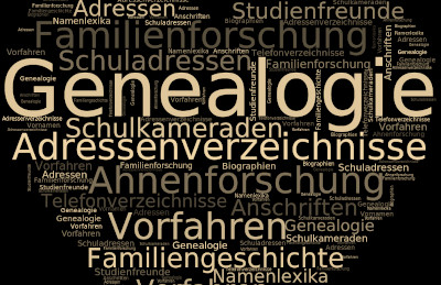 Genealogie Adressenverzeichnisse Ahnenforschung Vorfahren Familienforschung