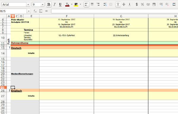 Stoffverteilungspläne - Unterrichtsplanung - Stoffplan-Vorlagen für ...